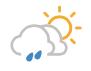 Morgens Wolkenfelder und wenig Regen